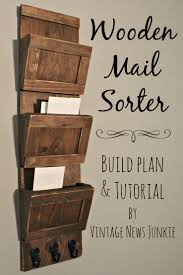 get organized diy wood mail sorter plans and tutorial mail