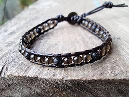 smoky quartz bracelets lava bracelets leather bracelets
