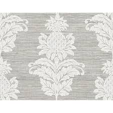 ps40700 pineapple grove gold damask wallpaper by kenneth james