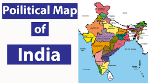 India Political Map by भ ग ल Geography Lecture 10 Political Map Of India Ssc Cgl