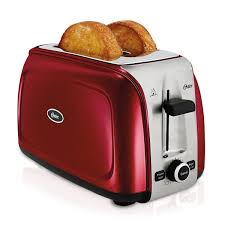 Two Slice Toaster Reviews Oster Designed To Shine 2 Slice Toaster Red Tssttrpmr2 Oster