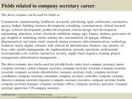 Secretary Job Resume by Top 5 Company Secretary Cover Letter Samples