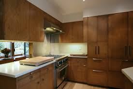 small kitchen decoration using solid cherry wood veneer kitchen