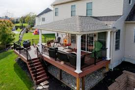 hip roof and azek deck refurbish deck and patio ideas