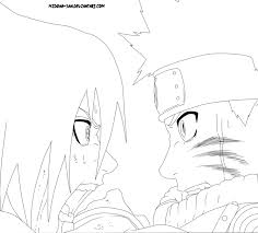coloring pages of naruto vs sasuke high quality coloring pages