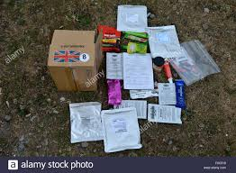 Union Army Flag 24 Hour Ration Pack Contents With Union Jack Flag Showing Use Of