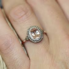 morganite engagement ring gold chagne diamond and morganite engagement ring in 10k gold