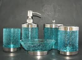 28 blue crackle glass bathroom accessories linea nautical