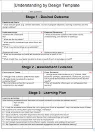 understanding by design template https psmlaonlinepd wikispaces