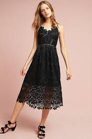 lace fit and flare dresses on trend for fall wedding guest season