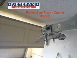 Overhead Door Legacy Opener by Metal Piece Broke On Garage Door Section Can I Fix It