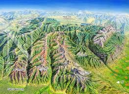 Map Of Utah Ski Resorts by Wasatch Mountains Utah James Niehues Map Artist Ski Maps