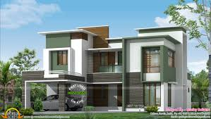 2806 sq ft flat roof contemporary kerala home design and floor
