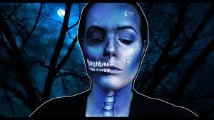 Half Skull Halloween Makeup by Halloween Makeup L Half Skull Face Youtube