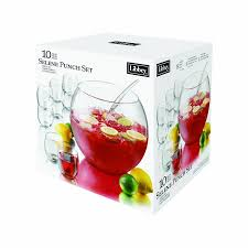 halloween punch bowl set amazon com libbey selene punch set drinkware sets kitchen u0026 dining