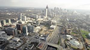Georgia global travel images London uk april 2016 aerial london canary wharf britain europe jpg