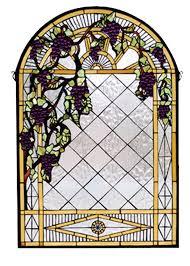 66048 tiffany grape diamond trellis stained glass window