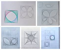 super cool math art with parabolic curves math art math and