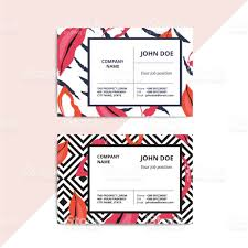 trendy abstract business card templates modern luxury beauty salon