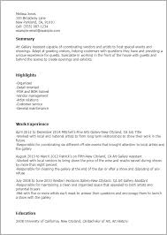 Show Examples Of Resumes by Professional Gallery Assistant Templates To Showcase Your Talent