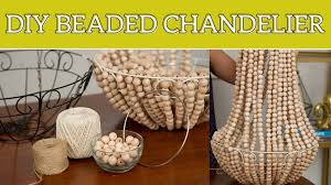 home decor hanging beads diy home decor beaded chandelier youtube