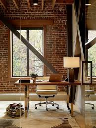 home office interior design ideas 34 home office designs with exposed brick walls digsdigs