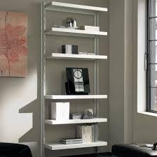 librerie muro in metallo big 15 a muro in acciaio bianco 85 x 32 x h203 cm