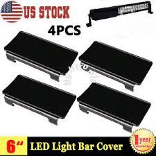 52 inch led light bar cover 4x 6 inch snap on black lens cover led light bar atv 4wd 50 52 42