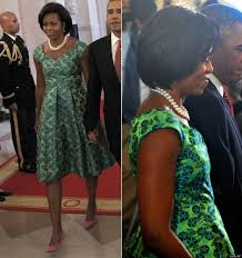 obama dresses obama wearing print dress by barbara tfank clearly