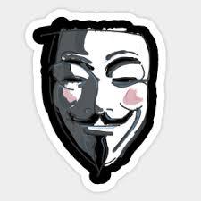 V For Vendetta Mask V Vendetta Mask Stickers Teepublic