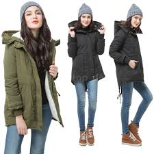 Warm Winter Coats For Women Winter Women Parka Coat Hooded Thick Fleece Jacket Warm Overcoat
