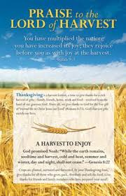 praise to the lord of harvest thanksgiving insert product goods
