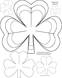 st patrick u0027s day shamrock templates for crafts enchanted