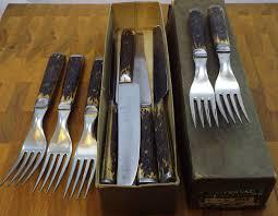 carbon steel kitchen knives for sale pewter flower inlay bone handles 12 set hs b knives forks civil