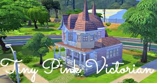 sims 4 house build tiny pink victorian starter youtube