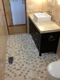Mosaic Floor L Blue And Gray Mosaic Bathroom Floor Cottage With Tile Design 12