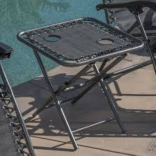 Zero Gravity Chair Table Zero Gravity Chairs Of 2 Black Lounge Outdoor With Folding Table