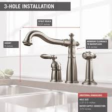 Widespread Kitchen Faucet Kitchen Delta Cassidy Kitchen Faucet Spectacular Delta 155 Ss Dst