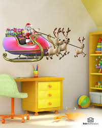 santa claus in his sleigh full of gifts wall stickers santa claus in his sleigh full of gifts