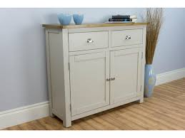grey painted oak small sideboard wellington oak city