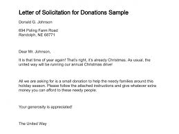 solicitation letter sample for donation the best letter 2017