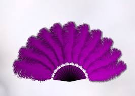 ostrich feather fans second marketplace medium purple animated ostrich feather fan
