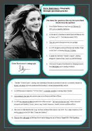 english teaching worksheets biographies