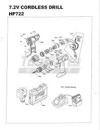 ryobi hp722 7 2v cordless drill parts tool parts direct