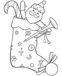 stocking christmas coloring pages christmas coloring pages