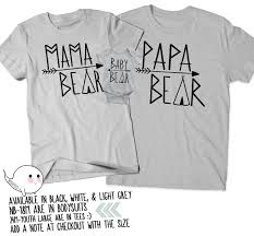 papa bear baby bear mama bear shirt gifts for dads mothers day