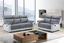Gray Recliner Sofa 3 Seater Recliner Sofa Grey Rosebay