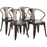 Amazon Com Tabouret Bistro Steel Side Chairs Set Of 2 Chairs
