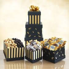 new year gift baskets best black gold elegance chocolate new years gift basket tower