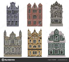 amsterdam old historic buildings and houses traditional european